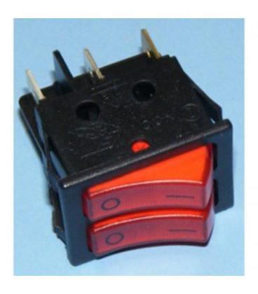 Interruptor Doble Rojo i/o