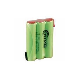 Bateria 3,6v 900ma AAAX3 Ni-Mh c/terminales 30x40x10mm