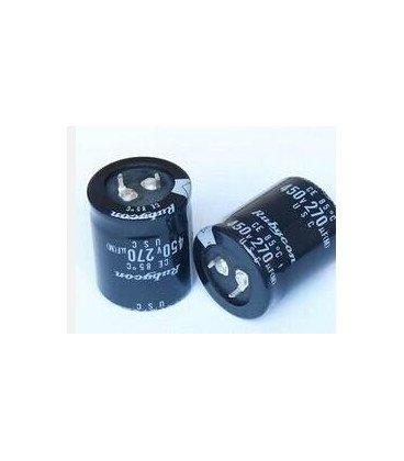 Condensador Electrolitico 270uF 450Vdc medidas 35x35mm 2Pin