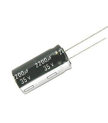 Condensador Electrolitico 2200uF 35Vdc 105ºC medidas 16X25mm