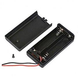 Portapilas R06x2 Cables 2 pilas AA y conmutador