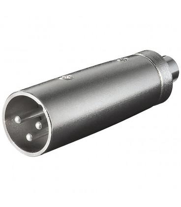 Adaptador XLR Macho 3Pin a RCA Hembra