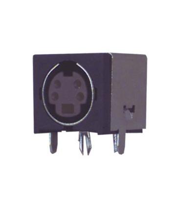 Base MiniDIN Hembra 4Pin 8mm C.I.