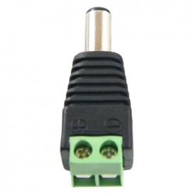 Conector Alimentacion DC MACHO a Tornillo 5,5x2,1