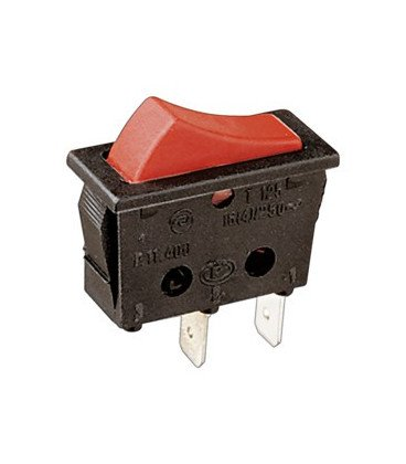 Interruptor Basculante Unipolar ROJO 11.400