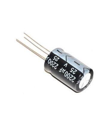 Condensador Electrolitico 2200uF 25Vdc 105ºC medidas 13x20mm