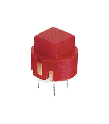 11.516.P/C/R Pulsador boton Cuadrado Rojo