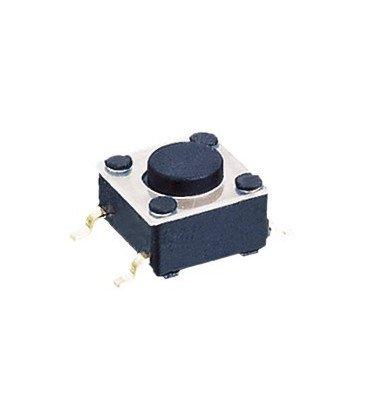 Pulsador membrana SMD 6x6mm alto total 5mm