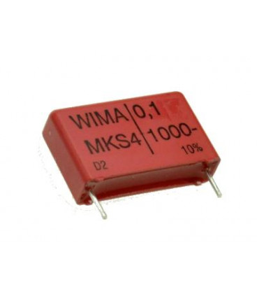 Condensador Polipropileno 100nF 1000V R22.5mm 100K