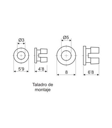 Soporte LED 5mm a presion