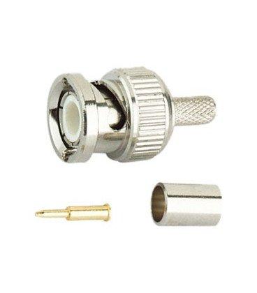 Conector BNC Macho CRIMPAR cable RG174 19.200/174