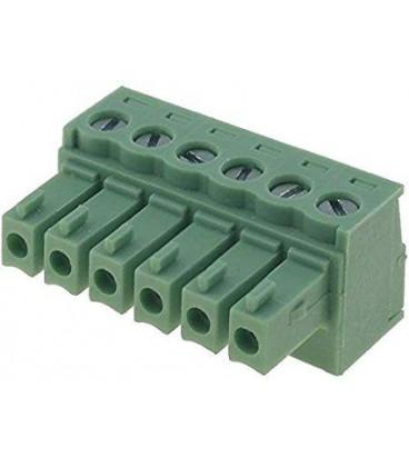 Conector C.Impreso Hembra 6 Contactos Raster 3,81mm
