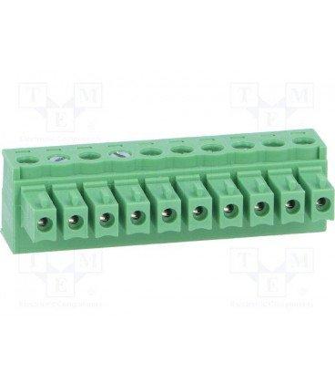 Conector C.Impreso Hembra 10 contactos Raster 3,81mm