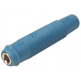 Banana Hembra Aerea 4mm Azul Precision