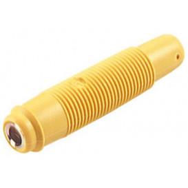 Banana Hembra Aerea 4mm Amarillo Precision