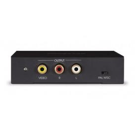 Conversor HDMI a RCA AV Video y Audio NEGRO HQ
