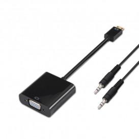 Conversor MiniHDMI a VGA y audio conector