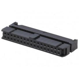 Conector Cable Plano Hembra Doble Fila 34Pin 1,27