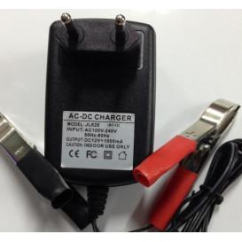 Cargador Baterias PLOMO 12Vdc 1000mAh AUTOMATICO BC-12SL