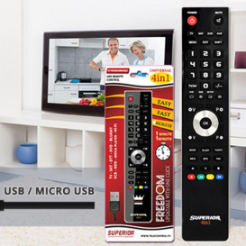 Mando Universal Programable PC-Cable USB 4in1 Negro SUPERIOR