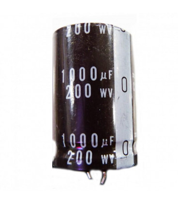 Condensador Electrolitico 1000uF 200V 105º 35x50mm