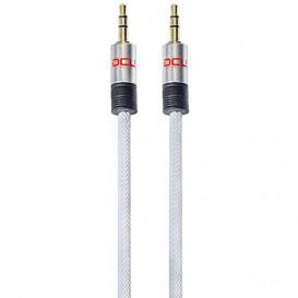 Cable JACK 3,5 ST Macho-Macho 3,5 ST 1m BLANCO