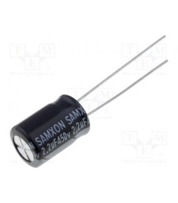 Condensador Electrolitico 2,2uF 450Vdc 105ºC Medidas 8x12mm