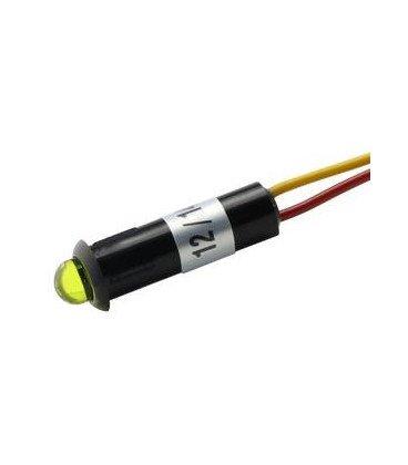 Piloto LED 5mm 12V Amarillo