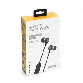 Auriculares Bluetooth Sport con Microfono Negro