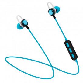 Auriculares Bluetooth Sport con Microfono Azul