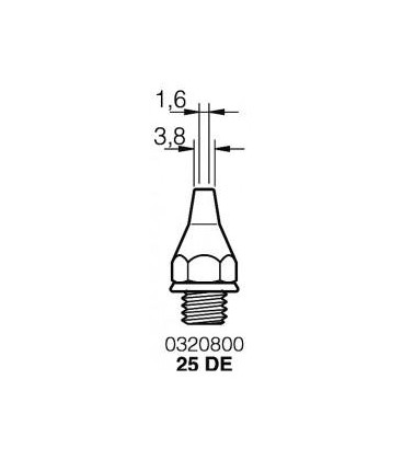 Punta Desoldador 25DE 3,8mm para DST JBC 0320800