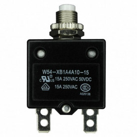 Interruptor Magnetotermico 250Vac 50Vdc 15Amp con Tuerca