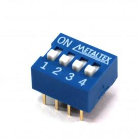 Microinterruptor DIP Switch de 4 Interruptores ON-OFF