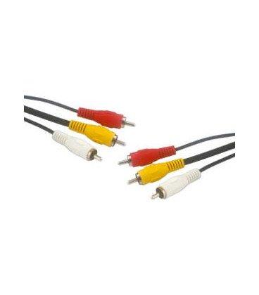 Cable RCA 3 Machos a 3 RCA Machos 3metros