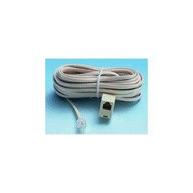 Cable Telefono RJ11 6P4C a Hembra 7,5m Marfil