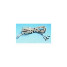 Cable Telefono RJ11 6P4C a Terminales 7,5m Marfil