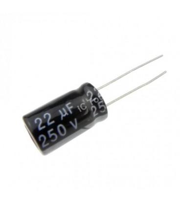 Condensador Electrolitico 22uF 250V 105º 10x20mm