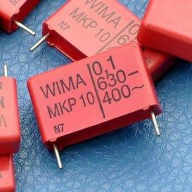 Condensador Poliester 100nF 630V R15mm 100K WIMA