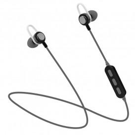 Auriculares Bluetooth Sport con Microfono Gris