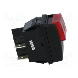 Interruptor Presion 2 pulsadores Negro/Rojo 10A/250Vac OFF-ON