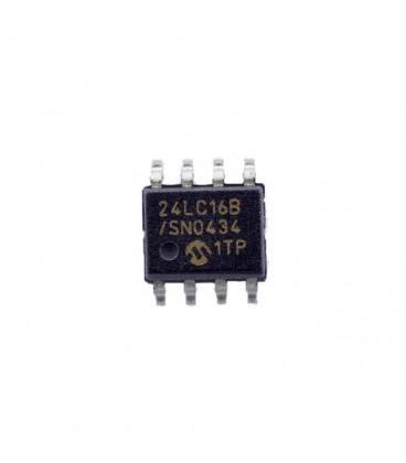 Circuito Integrado Eeprom SMD 8x256kx8bit 24LC16B-I/SNG
