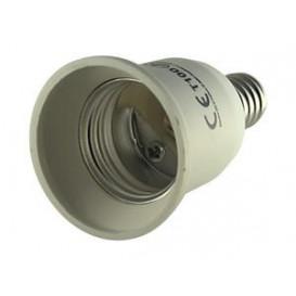 Adaptador Rosca Bombillas E27 Hembra a E14 Macho 12.109