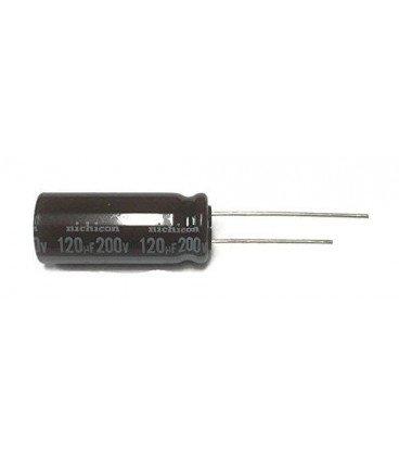 Condensador Electrolitico 120uF 200Vdc 105ºC medidas 10x50mm