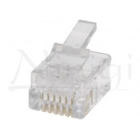 Conector Telefono RJ12 6P6C Cable Redondo y Plano