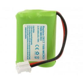 Pack Baterias 2,4V 400mA NiMh 2/3AAAx2