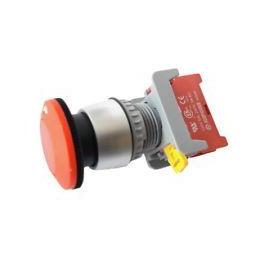 Conmutador de Emergencia tipo SETA NC 3A/230Vac Boton Rojo