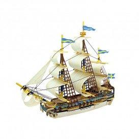 Puzzle Madera 3D Barco Sueco