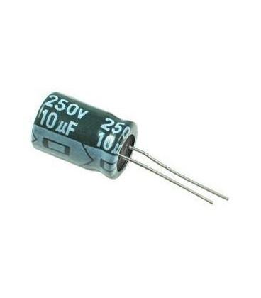 Condensador Electrolitico 10uF 250V 105º 10x12mm