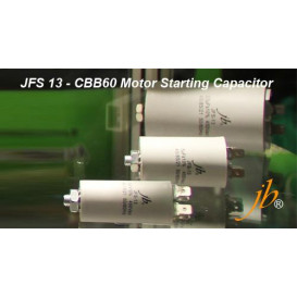 Condensador Trabajo Motor 100uF 450Vac 60x123mm FASTON y M8