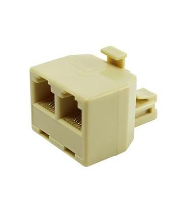 Adaptador Telefono RJ12 6P6C 1 Macho a 2 Hembras 39.015/6/6